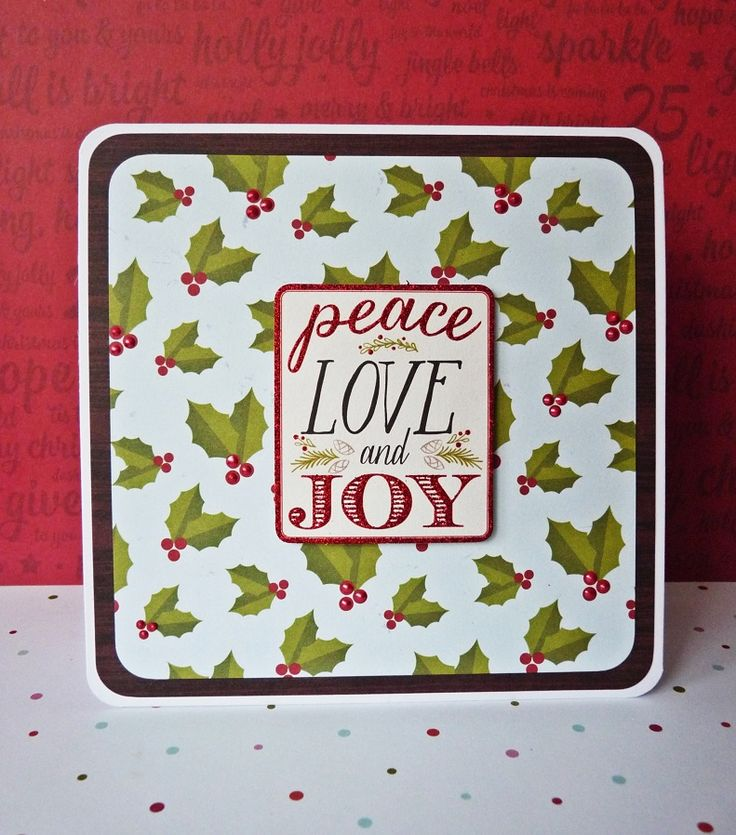 peace love and joy card || shimelle christmas magic & pink paislee merry and bright