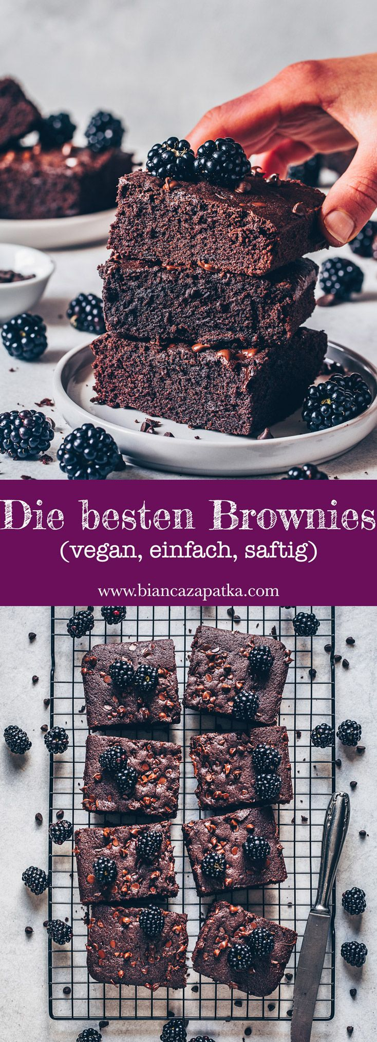 Die besten Brownies – vegan, einfach, saftig  – Meine Rezepte – Bianca Zapatka