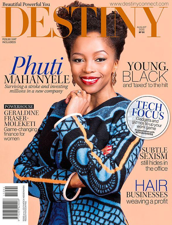 Phuthi Mahanyele, Destiny August 2015 Cover