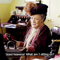 Dowager vs. Swivel chair. I cried I laughed so hard!