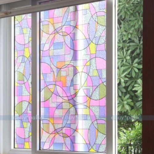 Removable-Stained-Glass-Window-Film-Decorative-Home-Office-Privacy-45cmx200cm