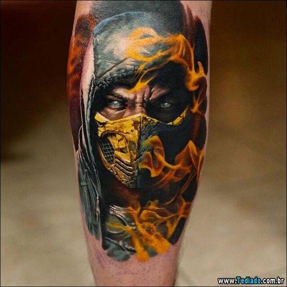 30 Ideias de tatuagens de Mortal Kombat | Tinta na Pele