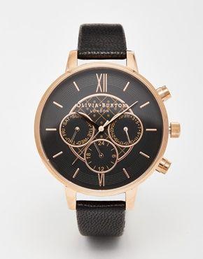 Olivia Burton - Grosse montre chronographe - la prochaine de ma collection .... ❤️❤️❤️❤️