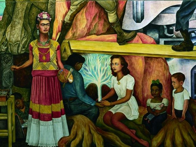 629 best images about kunst diego rivera on pinterest for Diego rivera day of the dead mural