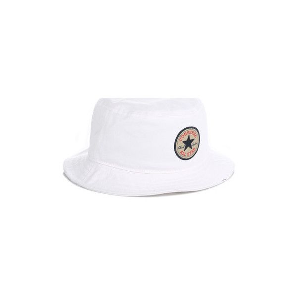 Converse Chuck Taylor White All Star Bucket Hat Hat ($30) ❤ liked on Polyvore featuring accessories, hats, white, women, star hat, fisherman hat, bucket hat, white fisherman hat and fishing hat