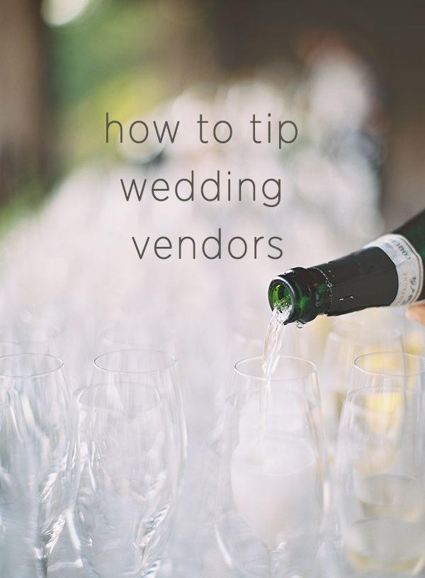 How Much Do I Tip Wedding Vendors via OnceWed.com