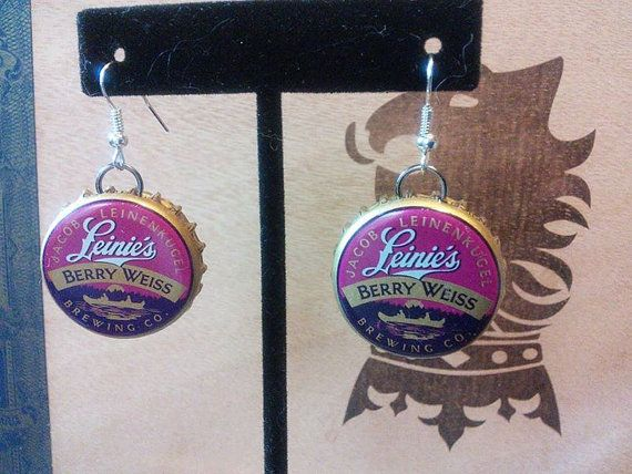 Recycled Leinie's Berry Weiss Beer Bottle by JewelrybyBLink