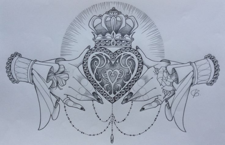 Claddagh design by Nina, Beautiful Freak Tattoo Belgium