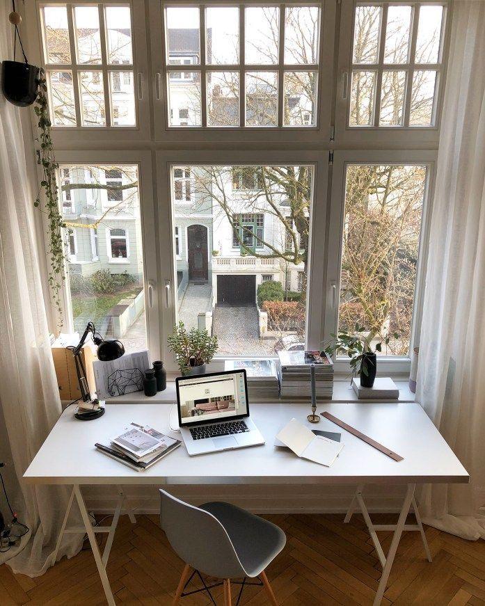 Mein Neues Arbeitszimmer Inkl Kurzer Anleitung Zu Meinem Selbstgebaut 8230 In 2020 Home Home Office Decor Home Office Lighting