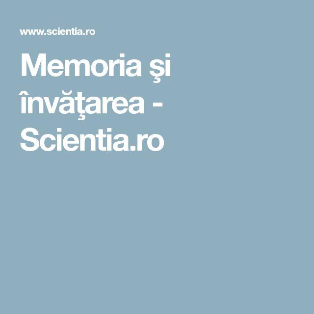 Memoria şi învăţarea - Scientia.ro