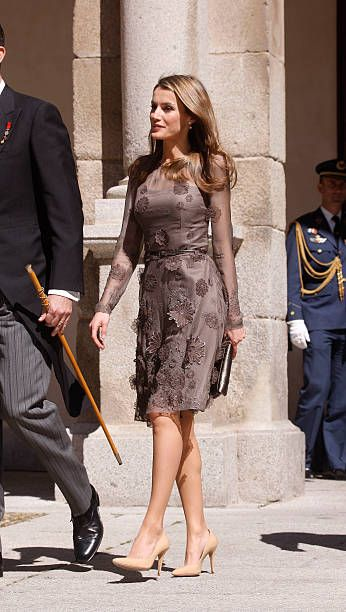 Letizia of Spain attends a lunch for the 'Cervantes Award' to Jose Manuel Caballero Bonald in Madrid