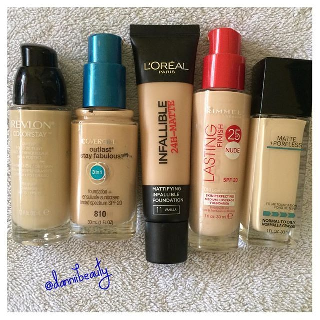 Love these for my combination/oily skin!! http://www.danniibeauty.blogspot.com.au/2015/12/top-five-drugstore-foundations-for-oily.html