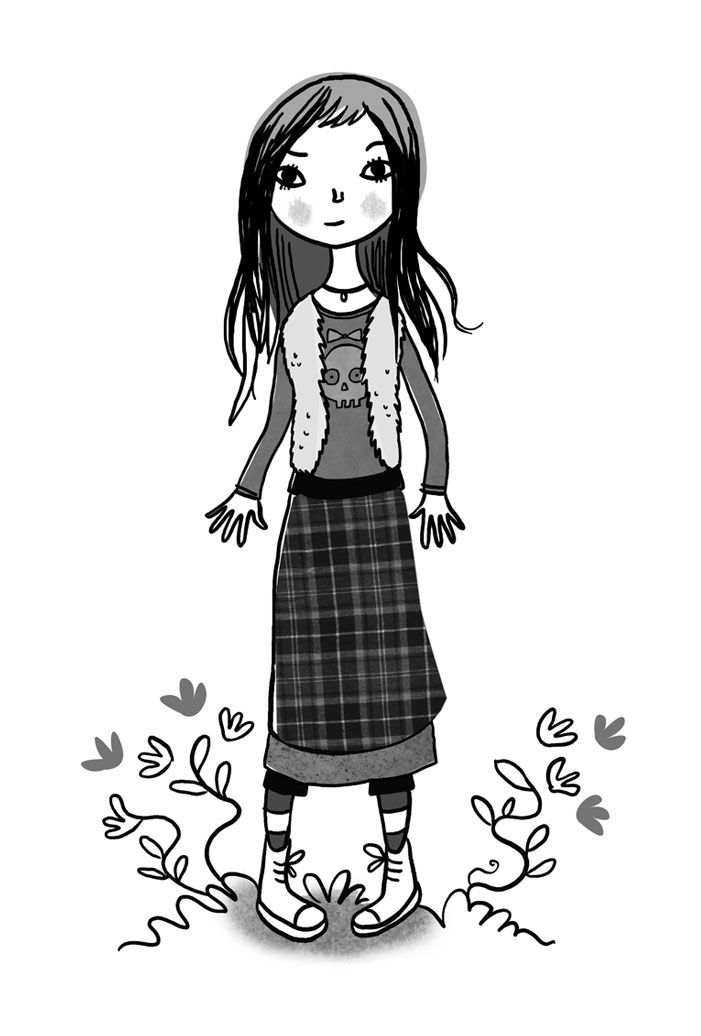 Rose Callahan (inspired by Winona Ryder in Bettlejuice). From Truly Tan. Written by Jen Storer. Illustrated by Clare Robertson. HarperCollins Publishers.