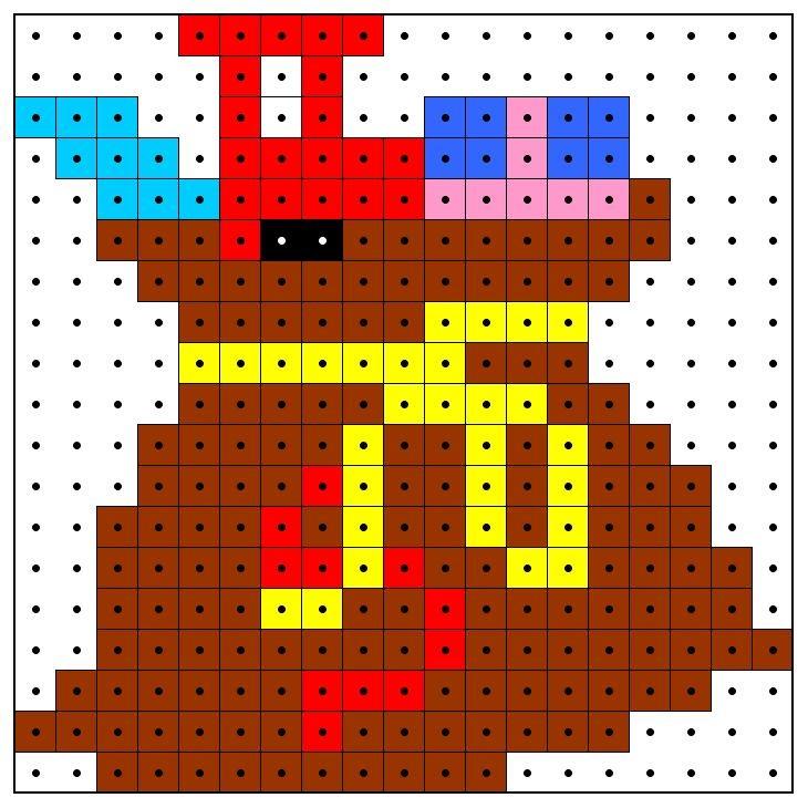 Kralenplank: KleuterDigitaal - wb kralenplank zak van sinterklaas