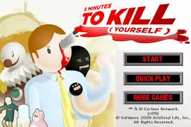 You control Stan as he tries to off himself using tools around the office so he doesn't have to endure another meeting. http://funnkidsgames.com/5-min-to-kill/