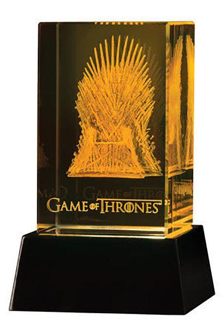 Le Trône de fer Bloc de verre 3D LED Iron Throne Dark Horse