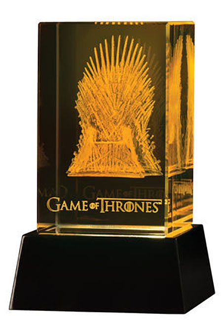 Le Trône de fer Bloc de verre 3D LED Iron Throne Dark Horse