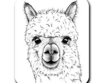 Alpaca art print - Etsy Art Art prints Alpaca