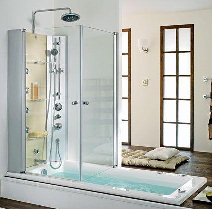 Les 25 meilleures id es de la cat gorie baignoire douche for Baignoire et douche salle de bain