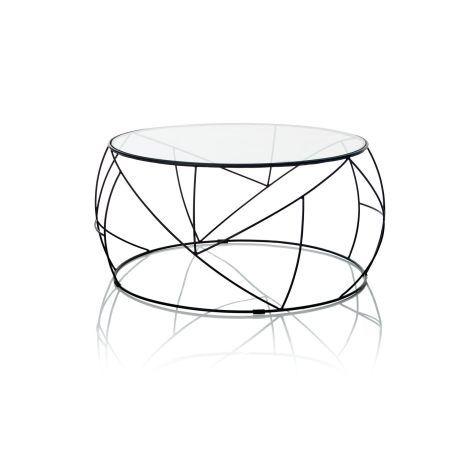 Couchtisch, Modern, Metall;Glas Vorderansicht