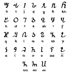 The Osmanya writing script