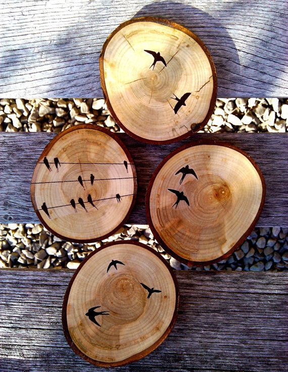 Graphic Wood Coasters - via Etsy.