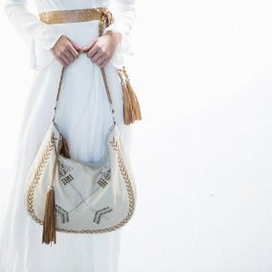 Cross Bow Leather Handbag