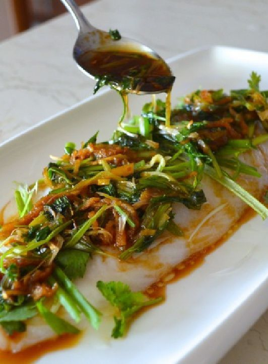 Low FODMAP Recipe and Gluten Free Recipe - Steamed Cantonese-style fish www.ibssanoplus.c...