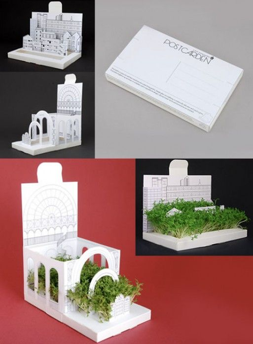 pop-out card that turns into a mini living garden. Instructions and seeds are included, so all that's needed is a little water and sunlight. Within a couple of days your recipient will have their own mini garden.