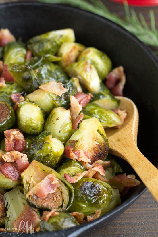 Kentucky Bourbon Braised Bacon Brussel Sprouts have lots of texture and flavor…
