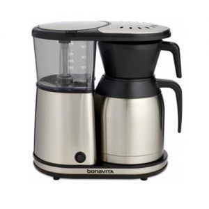 If you're looking to brew your coffee super-fast then this one's for you. This coffeemaker is truly well liked everywhere including online marketplaces due to the swiftness it carries with it. With this one, you won't have to stress about downing another cup of coffee before it cools off. With its 1500 watt heater and advanced circuits, it can maintain ideal brewing temperatures close to 200 degrees.