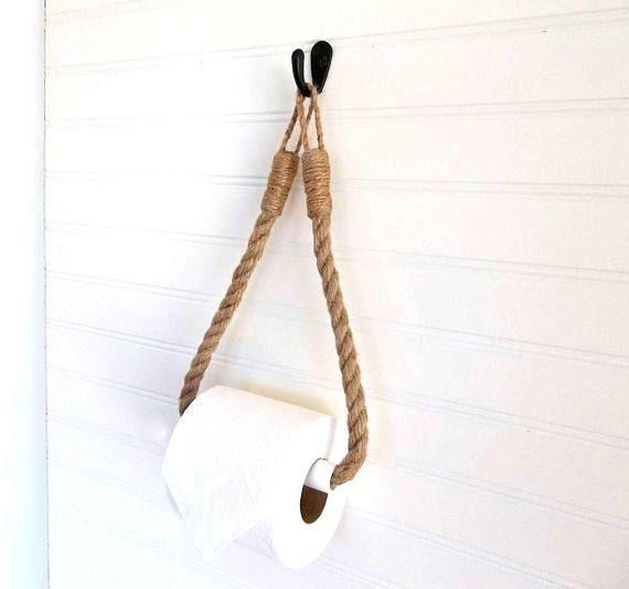Seil Toilettenpapierhalter Rustikale Jute Toilettenpapierrolle Wandaufhänger & Haken Bad