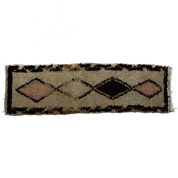 Boucherouite rug, no.511 { 230 x 69 cm } 4.500DKK