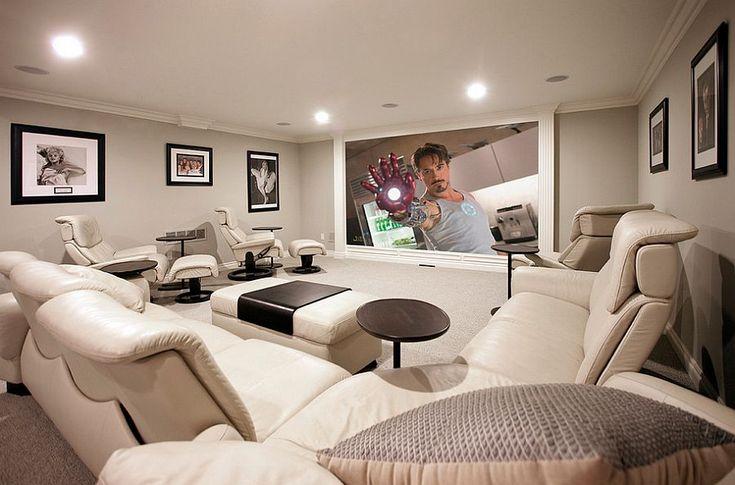 10 великолепных идей обустройства домашнего кинотеатра в подвальных помещениях