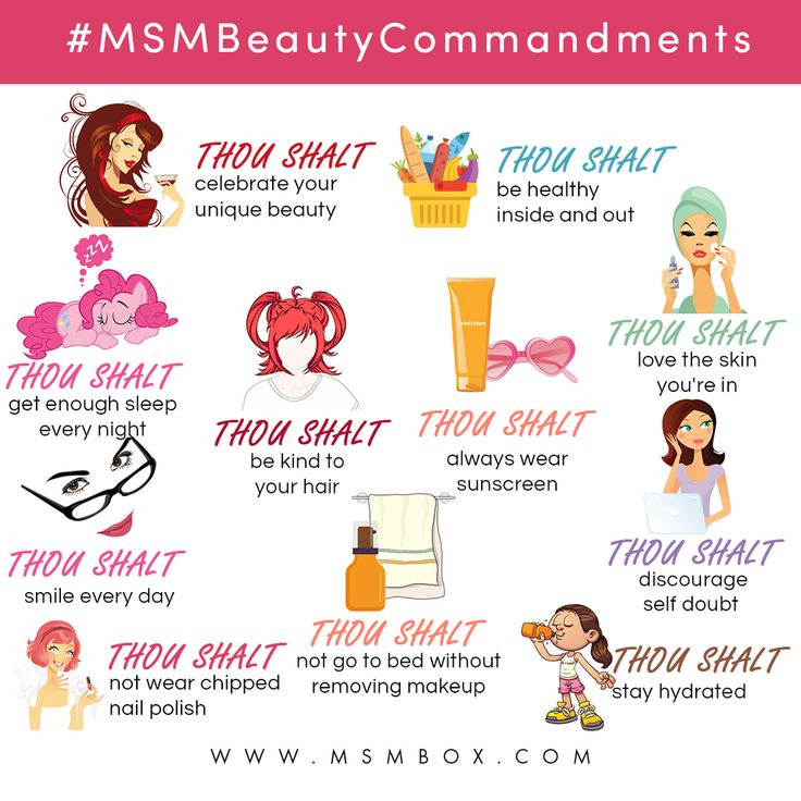 Beauty Commandments From MSM