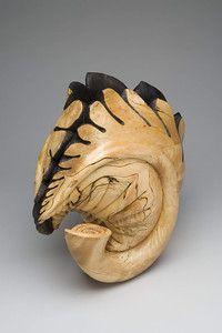 "Michelle Holzapfel's 2001 birch ""Blossfeldt Vase."" Yale University Art Gallery, gift of Ruth and David Waterbury, BA 1958, in honor of Betty and Whitney MacMillan, BA 1951."