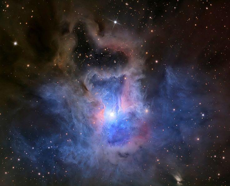 The Iris Nebula, a bright reflection nebula