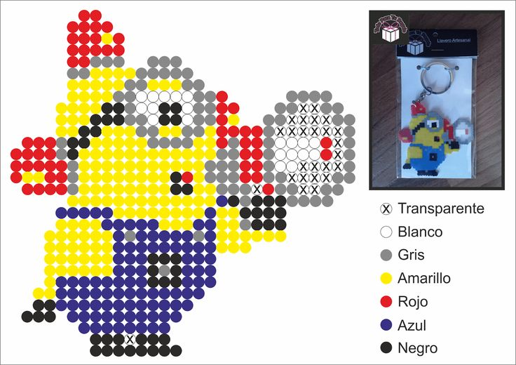 Despicable Me Minion Hama perler pattern - Diy Downloads