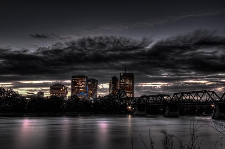 "500px / Photo ""Winnipeg Skyline under Cloud"" by jjaharvey"