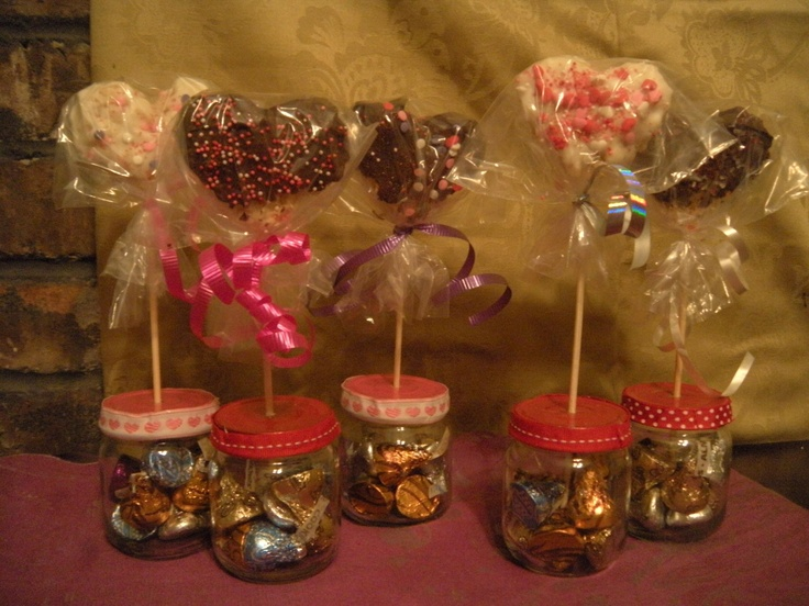 Valentines Made With Upcycled Baby Food Jars