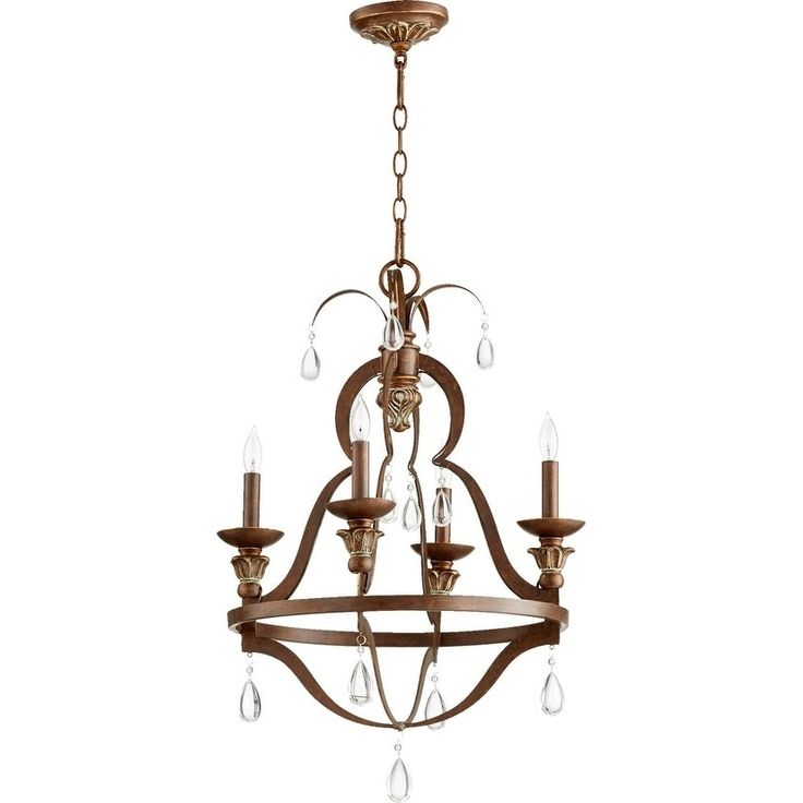 Quorum International Venice Family 4 Light Transitional Chandelier