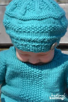 Little Cora Hat is an easy seamless knitting pattern! This hat will be loved by little girl and boy alike. This pattern only takes a few stitches: k, p, k2tog, p2tog and pfb, but is simply adorable! Click through to get the pattern!
