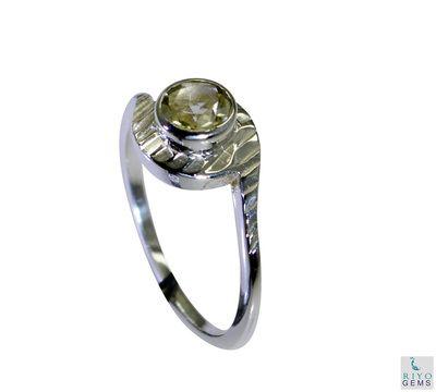 Riyo Lemon Quartz Silver Designer Mori Ring Sz 8 Srlqu8 46023 Rings