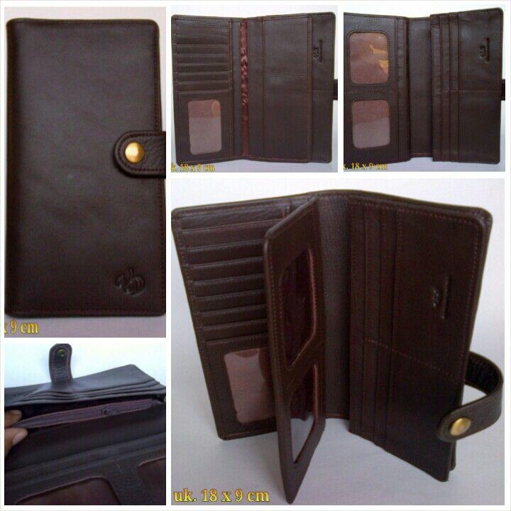 Dompet kulit asli P-16 coklat