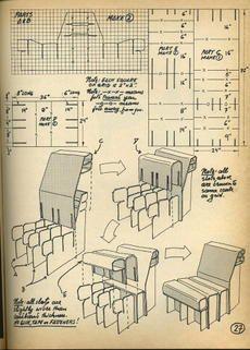 Corrugated cardboard chair 6