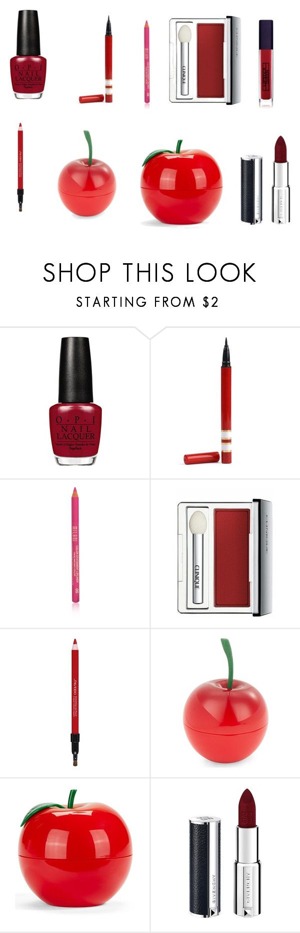 """""""Untitled #418"""" by kristiner1992 on Polyvore featuring Clinique, Shiseido, Tony Moly, Givenchy and Lipstick Queen"""