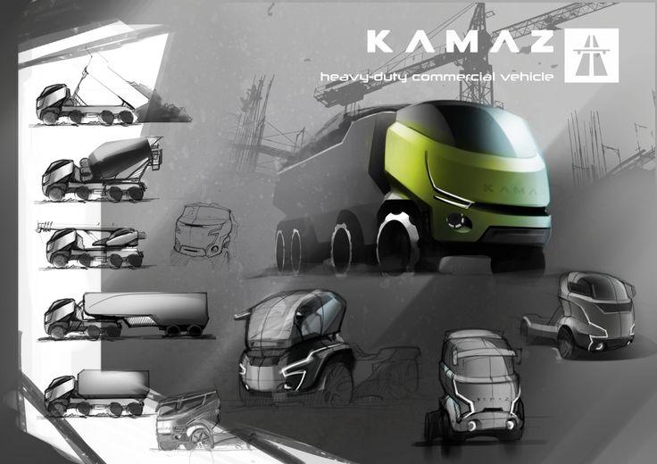 KAMAZ on Behance