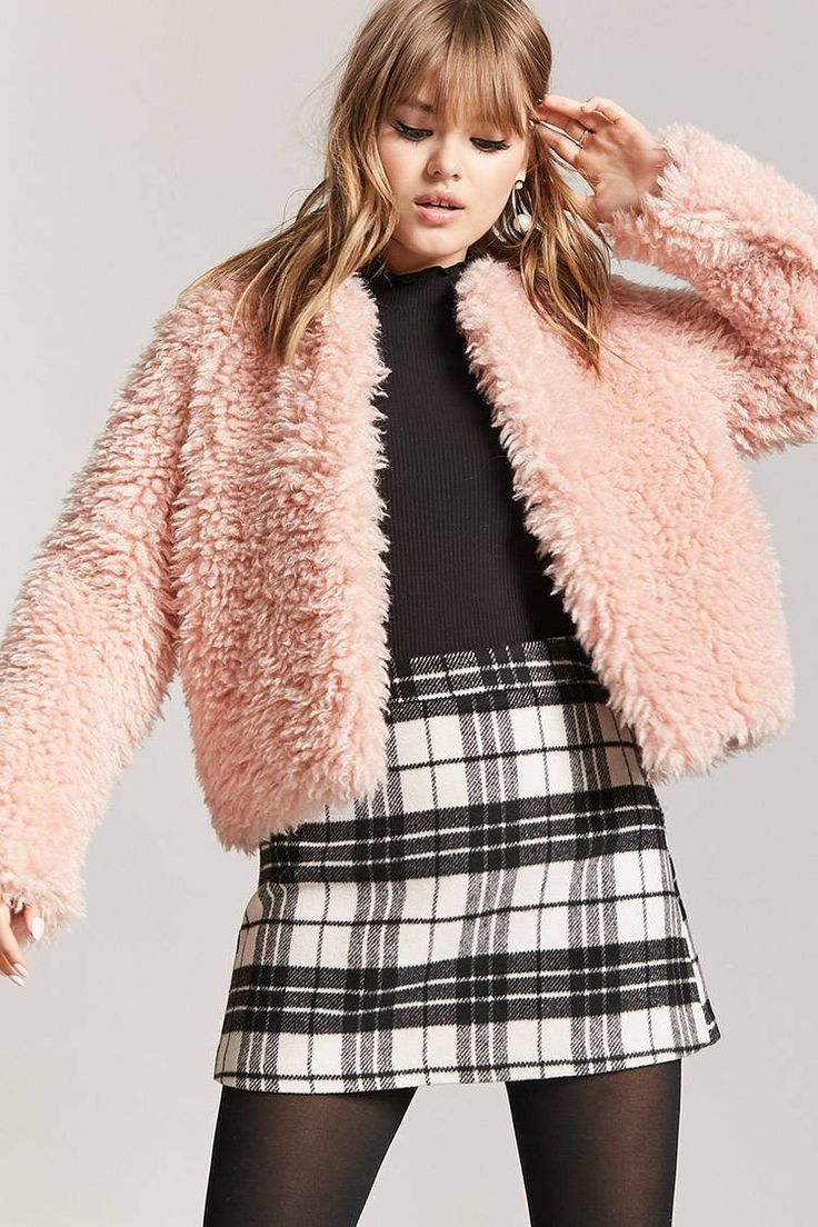 Product Name:Boxy Faux Fur Jacket, Category:outerwear_coats-and-jackets, Price:44.9