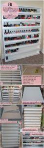 17 DIY Nail Varnish Rack Storage