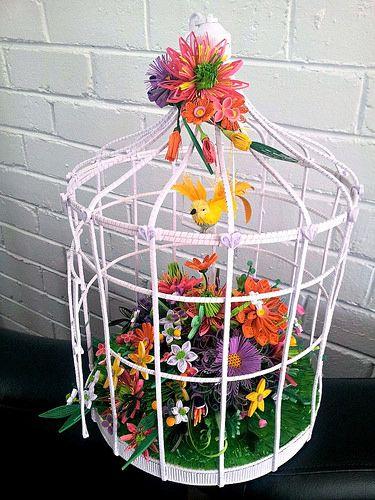 Quilled Bird Cage
